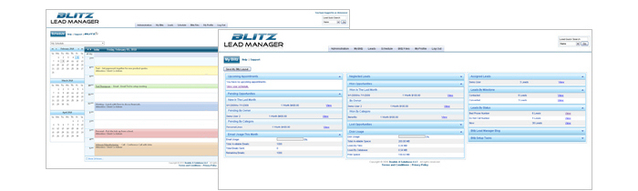 Flip through some Blitz Lead Management Software screenshots